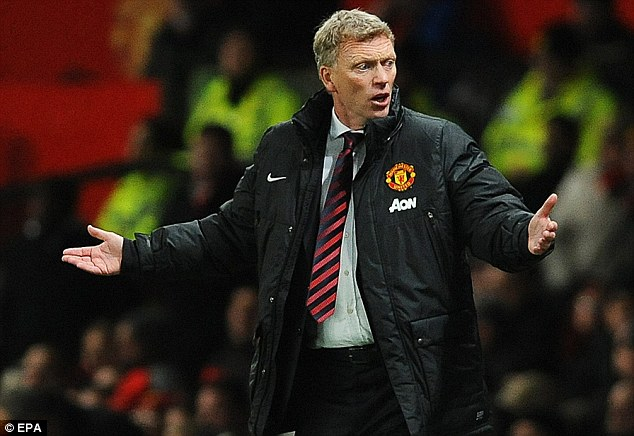 Bad day at the office: Despite losing against former club Everton, United boss David Moyes appeared in an upbeat mood during the post-match interview