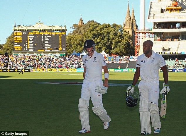 Big day: Joe Root (left) and Michael Carberry will be at the crease for England when day three begins
