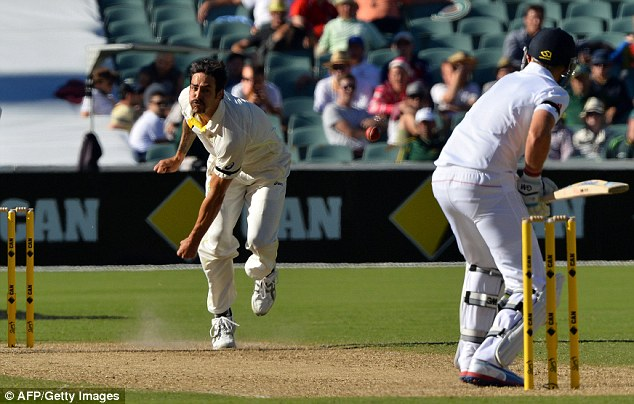 Ferocious: Johnson is regularly bowling at speeds of more than 90mph