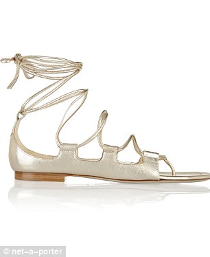 Chill Out metallic leather sandals, £325