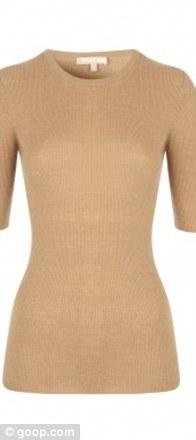 Suntan cashmere elbow sleeve sweater, £290.70