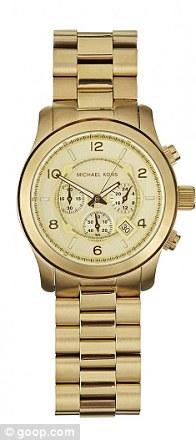 Gold tone oversize runway watch, £168.30