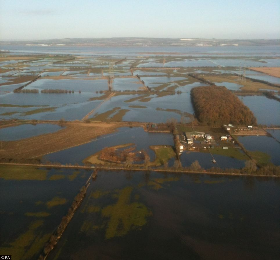 This photograph shows the mass flooding experienced across north Lincolnshire following high tides last night