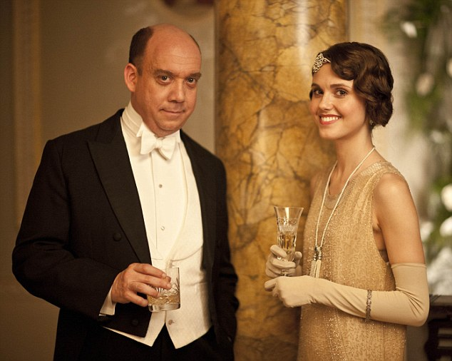 Playboy: Acclaimed Hollywood actor Paul Giamatti is Harold Levinson, Cora's brother, enjoying a drink with Lord Aysgarth's Madeleine