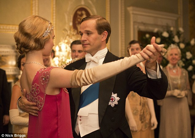 Royal guests: Lady Rose dances with the Prince Of Wales in the episode which will air on Christmas Day on ITV