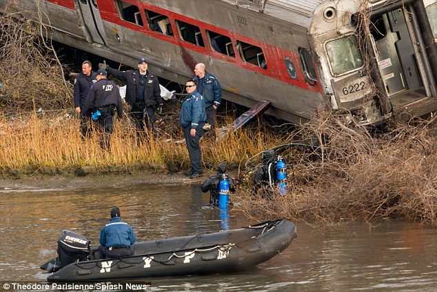 Terror: The Metro-North train entered a 30mph curve at 82mph in New York City, derailing and coming to a halt feet from the Hudson River