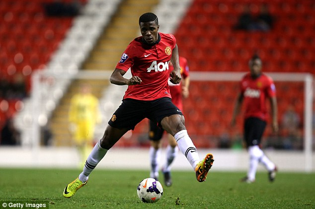 Young star: Winger Zaha is pictured during an Under-21 match against Blackburn Rovers in Leigh on Monday