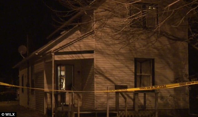 Scene of the crime: The double murder-suicide happened Thursday night in the 700 block of Saginaw Highway in Lansing, Michigan
