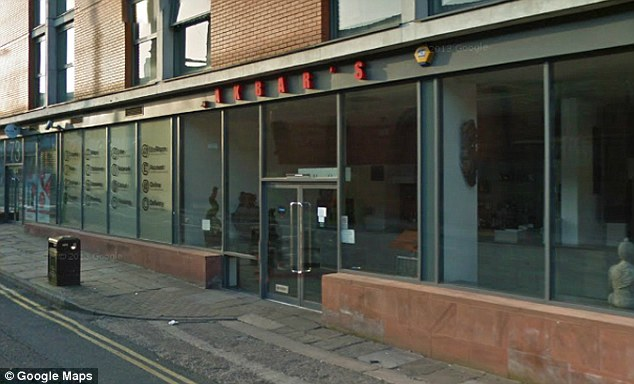 Argument: Police were called to Akbar's Indian restaurant in Manchester city centre on Friday night