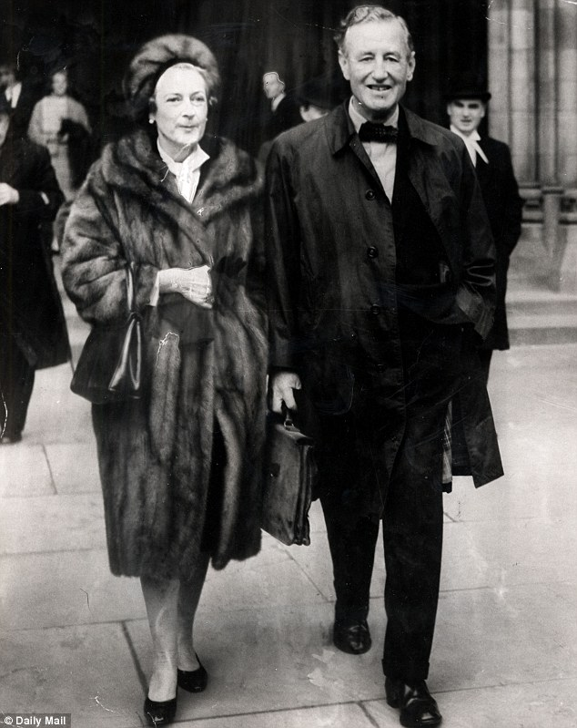 Happy couple: Ian Fleming later married Ann, pictured together in 1963, and they remained together until his death from heart disease in 1964