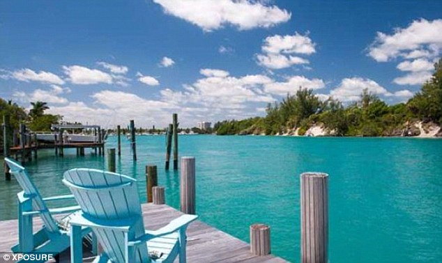 Access all areas: Newton-John's home boasts beach access and a pretty dock is just steps away