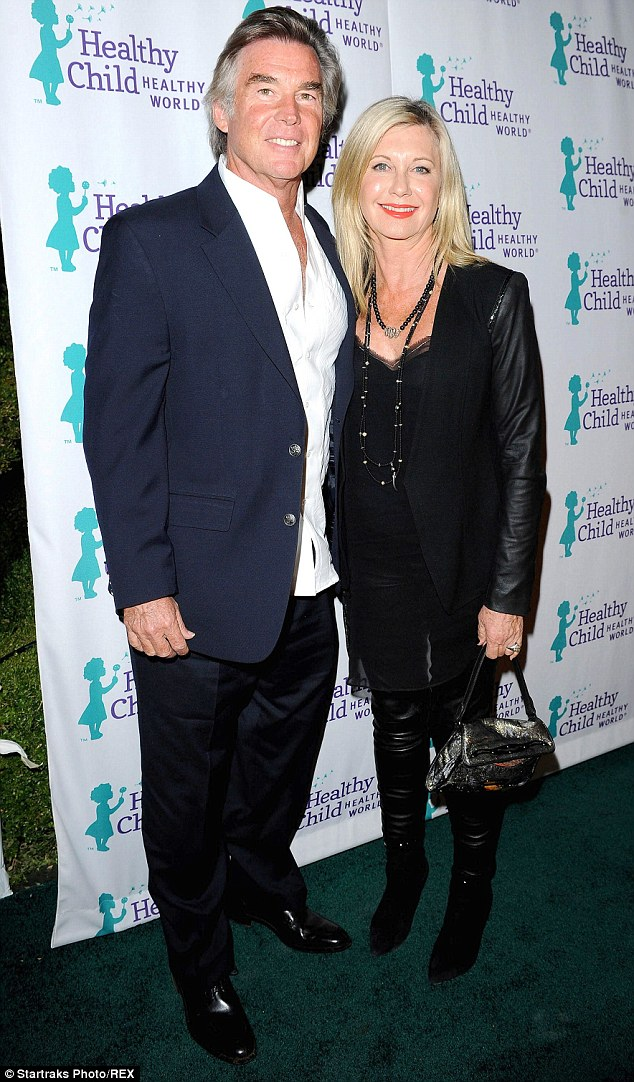 A hard sell: John Easterling and Olivia Newton-John, pictured here at the Healthy Child Healthy World Awards Gala in Los Angeles last month, are finding it hard to find a buyer for the home