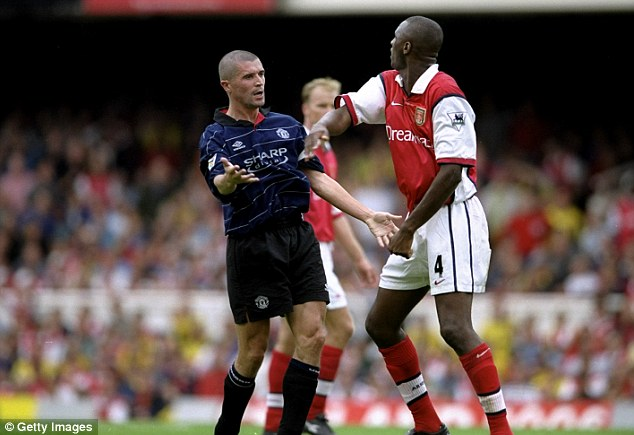 Best of enemies: Keane and Vieira had a series of bust-ups during their respective careers