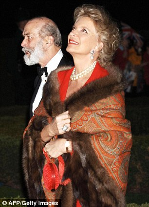 Prince and Princess Michael of Kent arrive at Kew Palace to celebrate the Queen's 80th birthday