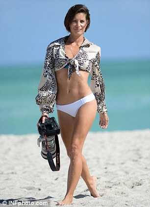 Logan Fazio has the cameras turned on her when she is seen looking for celebrities on Miami Beach