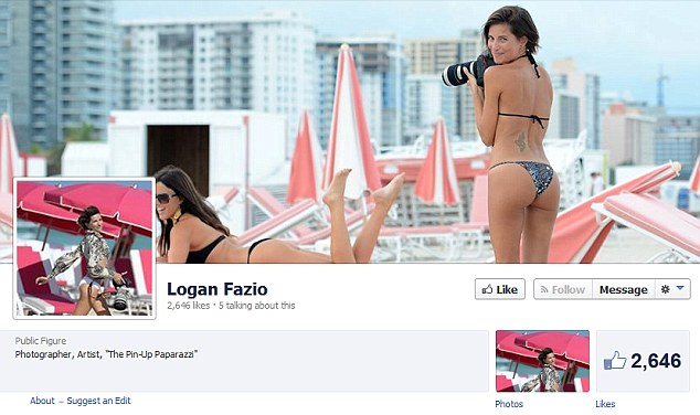 Logan seems to enjoy having her own photograph taken rather than taking pictures judging by her Facebook page