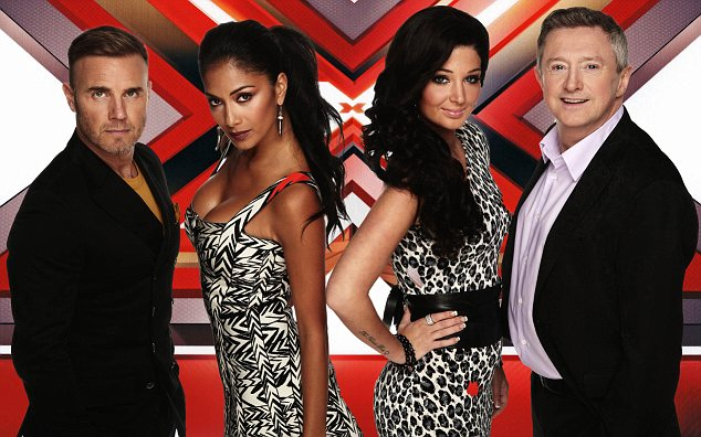 Star: Tulisa pictured with her fellow X Factor judges Gary Barlow, Nicole Scherzinger and Louis Walsh
