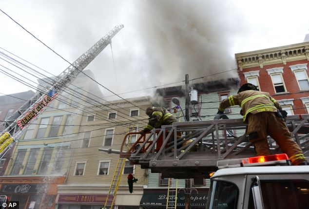Even big municipalities like Jersey City, New Jersey need volunteer firefighters. This November 27 fire destroyed a downtown store and damaged three others