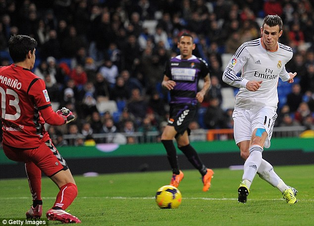 Machine: Bale has scored five goals in three games as he begins to repay his hefty £86million price tag