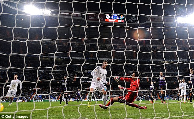 Threesy does it: Bale scored a perfect hat-trick against Real Valladolid last month to continue his fine form
