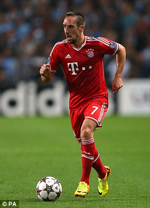 Up for it: Franck Ribery is in the running for the Ballon d'Or