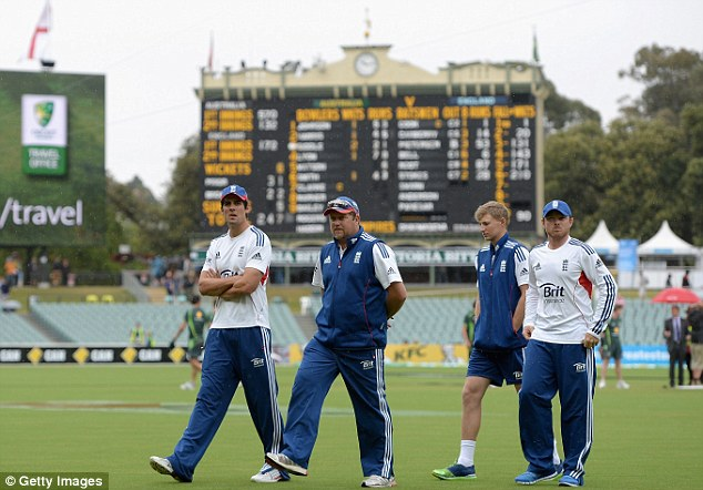 Regrouping: England's attentions now turn to Perth - where they have just a solitary Ashes Test