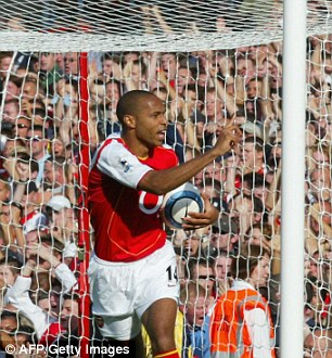 Legend: Of course, record goalscorer Thierry Henry makes the XI