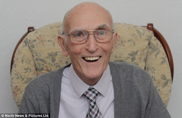 Happy: Mr South said he is no longer bloated and he can go to the food bank he runs at the church without feeling ill