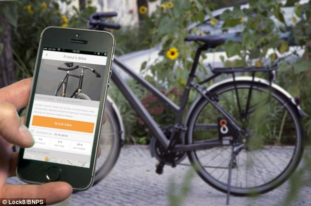 A high-tech bike lock has been invented to combat thieves - by sending a message to the owner every time someone tries to tamper with it