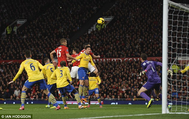 Return of Robin: Van Persie when Manchester United beat Arsenal at Old Trafford during November