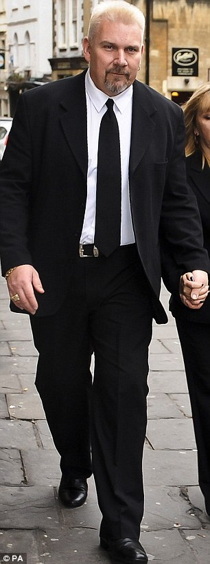 Walks free: Fireworks display organiser Geoffrey Counsell leaves Bristol Crown Court yesterday as he was cleared of causing the deaths of seven and injuring 51 on the M5