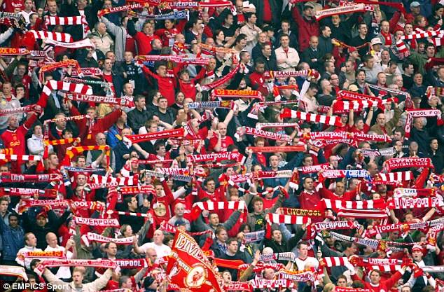 Spine tingling: Liverpool fans create an electric atmosphere at Anfield without the need for standing areas
