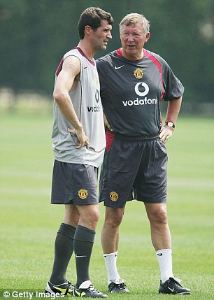 Happier times: Roy Keave with then Manchester United manager Sir Alex Ferguson