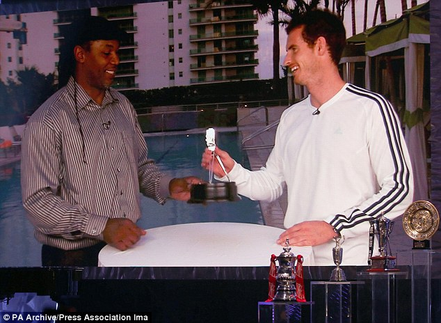 Knockout blow: Murray looks set to improve on last year's third place at the 2013 awards ceremony
