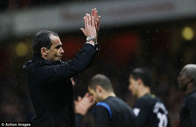 That was then: Roberto Martinez was in charge when Wigan were relegated to the Championship last season