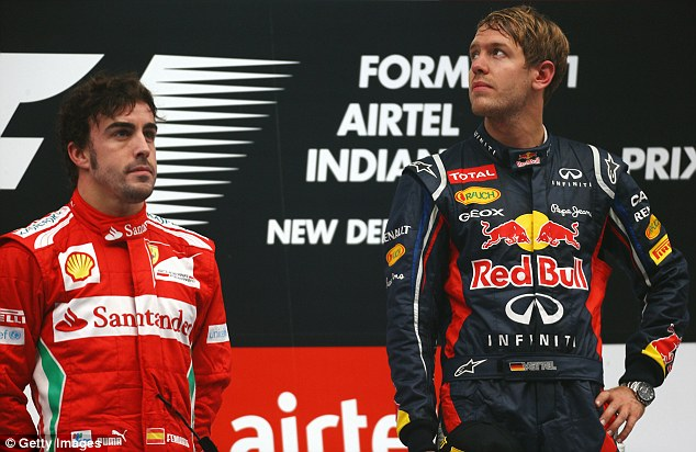 Swap: Under the new ruling, Fernando Alonso (left), not Vettel (right), would have won the 2012 drivers' title
