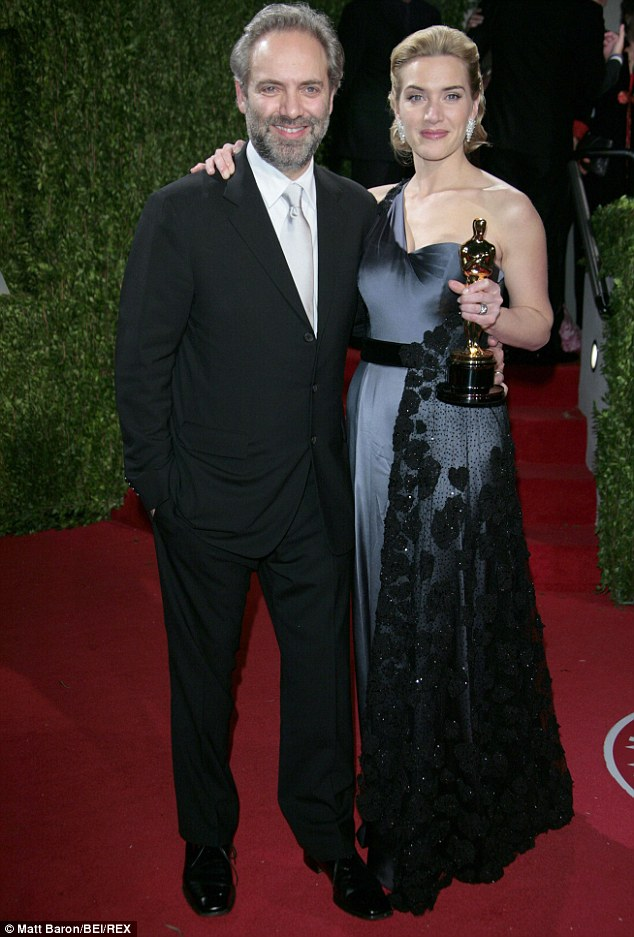 Former love: Kate with Sam Mendes and her best actress Oscar in 2009