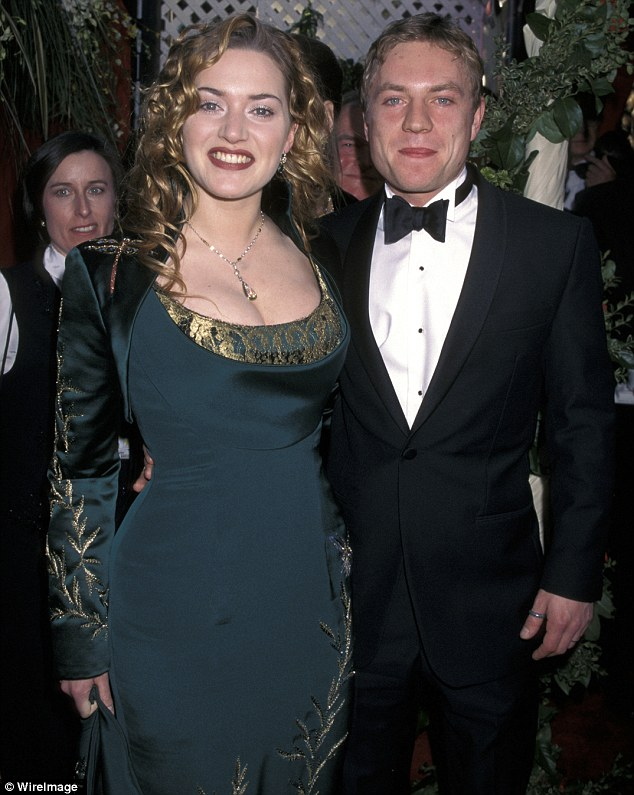 First marriage: At the Oscars with Jim Threapleton in 1998