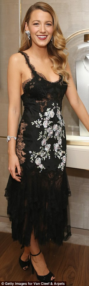 Diamonds Are A Girl's Best Friend: Blake Lively and Dita Von Teese both attended the unveiling of Van Cleef & Arpels redesigned New York 5th Avenue Flagship Maison on Tuesday evening
