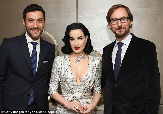 Happy snap: And Dita did the same