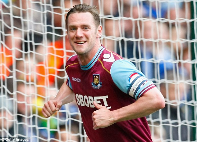 Funky chicken: But Kevin Nolan hasn't been able to perform his famous celebration as often as he'd like