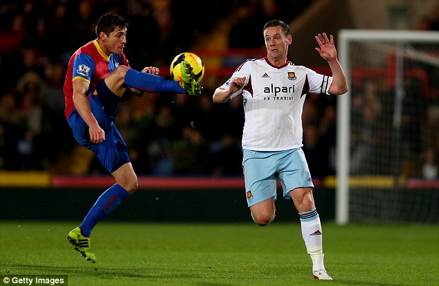 Responsible: The West Ham captain Kevin Nolan (right) knows his team are in a relegation battle