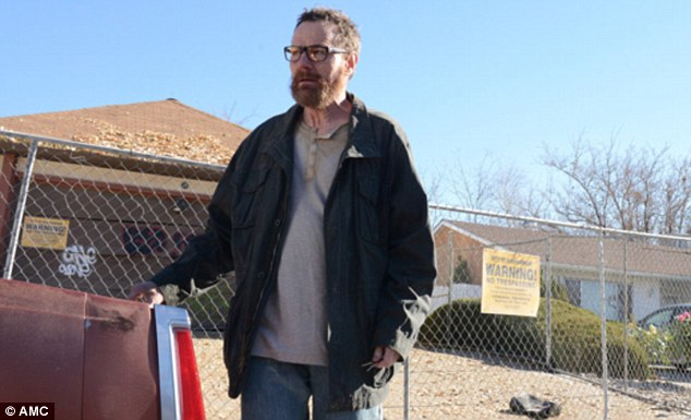 Farewell: Bryan Cranston's final turn in the last season of Breaking Bad earned the actor a Screen Actors Guild Awards for best actor in a dramatic series