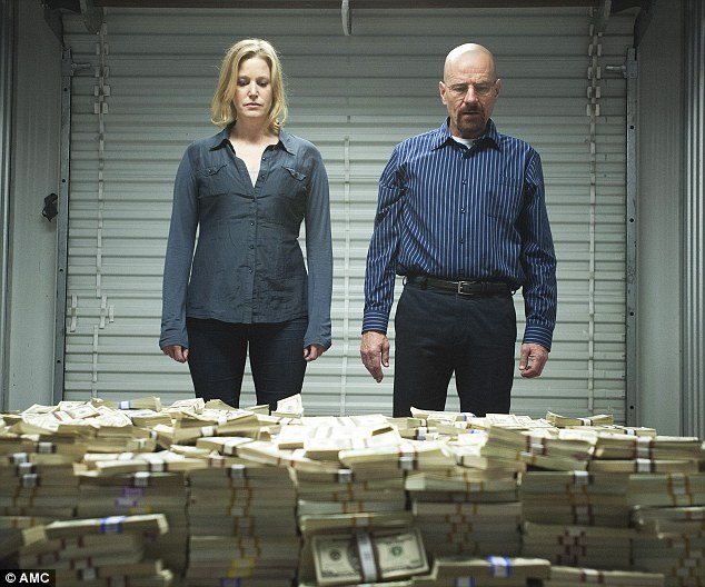 Power couple: Anna Gun and Cranston were both nominated for their performances as Walter and Skyler White
