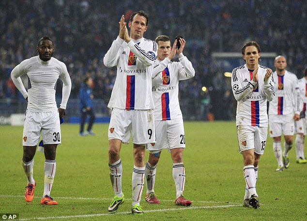 Europa League next up: Basel players react after the Champions League defeat at Schalke.