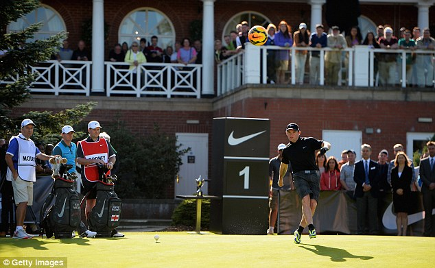 Endorsements: Rooney, here in a Nike advert with Rory McIlroy, earns some of his wealth through numerous endorsement deals