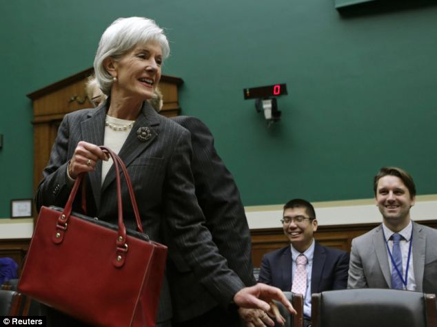 What, me worry? U.S. Health and Human Services Secretary Kathleen Sebelius has made several appearances on Capitol Hill to defend the Obama administration's handling of the national health insurance overhaul