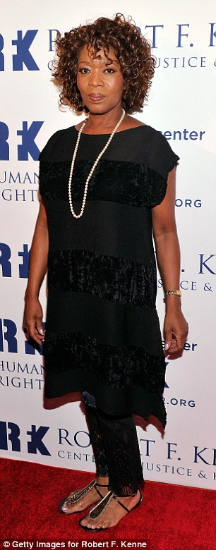 Unfussy style: Monochrome was the choice of the night, with both Lena Olin and Alfre Woodard donning black ensembles