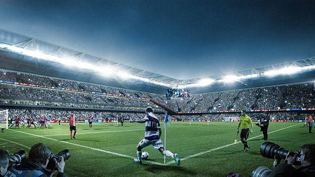 On the move: QPR have unveiled plans for a new 40,000 seater stadium
