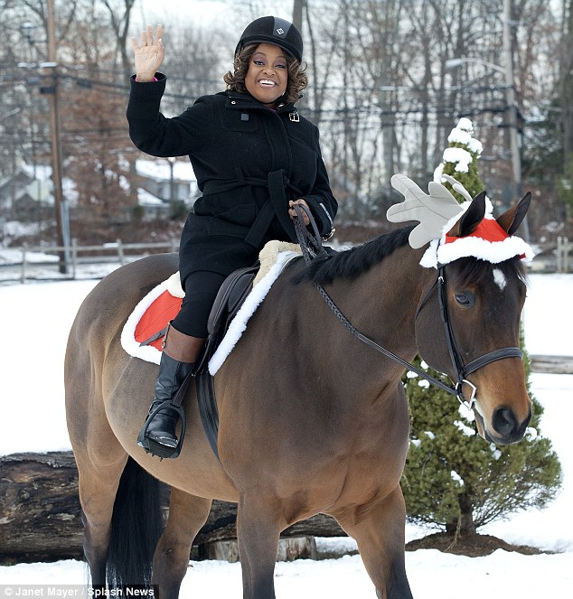 What would Rudolph say? Sherri gives a confident way after getting into the Christmas spirit on her horse